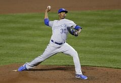 Kansas City Royals starting pitcher Yordano Ventura throws to a Baltimore Orioles batter in the eighth inning of a baseball game, Friday, April 25, 2014, in Baltimore. Kansas City won 5-0. (AP Photo/Patrick Semansky)