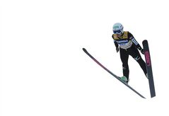 Sara Takanashi from Japan jumps to win the Ladies' Ski Jumping World Cup in Hinterzarten, Germany, Saturday, Dec. 21, 2013. (AP Photo/Daniel Maurer)