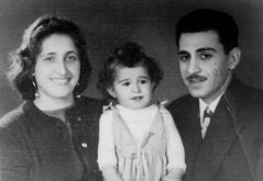 Laila and Farouk Chebib with son Louay in Winnipeg in 1958, when grocery stores offered few exotic choices. 'They did not have any yogurt, which was a staple for me.'