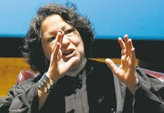 U.S. Supreme Court Justice Sonia Sotomayor speaks to law school students.