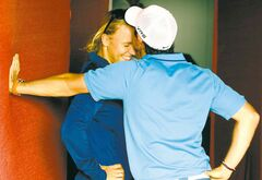 It seemed like a match made in sport heaven:  top golfer Rory McIlroy and tennis star Caroline Wozniacki nuzzle in happier times.