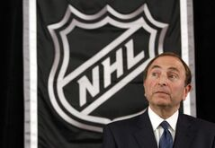 NHL commissioner Gary Bettman speaks to reporters after meeting with team owners in New York on Thursday. Another lockout appears to be inevitable.