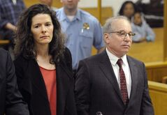 FILE - In this May 16, 2014 file photo, Paul Simon, right, and his wife, Edie Brickell, make a brief appearance in Superior Court in Norwalk, Conn., for a disorderly conduct case about an April 26 argument inside a cottage on their New Canaan property. The couple had been scheduled to return to court Tuesday, June 17, 2014, but prosecutors declined to pursue the case. The charges will be dropped and eventually erased after 13 months. (AP Photo/New York Post, Douglas Healey, Pool, File)