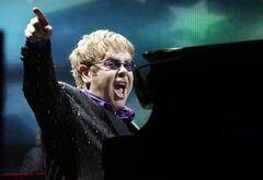 This June 30, 2012 photo shows British pop star Sir Elton John in Kiev, Ukraine. THE CANADIAN PRESS/AP, Efrem Lukatsky