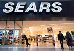 Sears at the Eaton Centre in Toronto opens its doors on October 29, 2013. THE CANADIAN PRESS/ Frank Gunn
