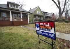 Home that are reduced in prices are shown in Windsor, Ont., on January 26, 2012. THE CANADIAN PRESS/Nathan Denette