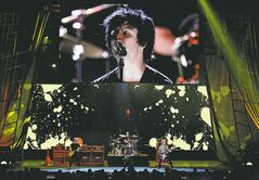 Green Day singer Billie Joe Armstrong performs to open the 2012 Rock and Roll Hall of Fame induction ceremonies Saturday in Cleveland.