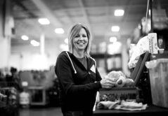 Landmark's Lori Plett flew to Calgary to volunteer at the OCC processing centre.