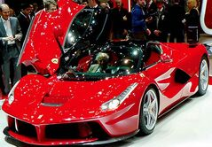 With a top speed of 350 km/h, the LaFerrari is the fastest Ferrari road car ever.