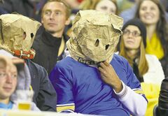 Time to bag this dismal season. Winnipeg Blue Bombers fans let their headgear do the talking Friday night during another brutal loss.