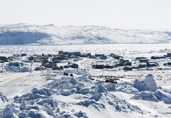 Apex, Nunavut, overlooking Frobisher Bay, is pictured on March 28, 2009. THE CANADIAN PRESS/Nathan Denette
