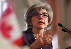 Beverly McLachlin, Chief Justice of the Supreme Court of Canada, delivers a speech in Ottawa, Tuesday, February 5, 2013. McLachlin insisted Friday there was nothing wrong with how she and her office consulted with the federal government regarding a presumptive nominee to the high court's ranks. THE CANADIAN PRESS/Fred Chartrand