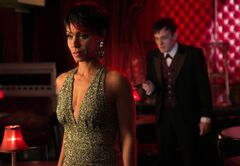 Jada Pinkett Smith, left, and Robin Lord Taylor are pictured in a scene from