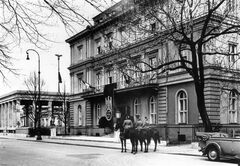 This 1935 photo released by the Bavarian State Library shows the Brown House, the former headquarters of Hitler's Nazi party in Munich, Germany. In Munich, Hitler launched his political career with speeches condemning Jews and proclaiming the ethnic superiority of Germans. (AP Photo/Bavarian State Library)