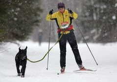 Erin Cameron competes in the  6th annual Snow Motion Classic, in Birds Hill Park, Sunday.