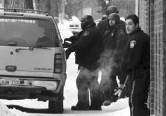 A police bust on Sherbrook Street near Sargent Avenue in the aftermath of the Johnny G's shooting.