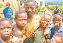 Children of Mulima Village, Lujeri Tea Estate, Mulanje, Malawi.
