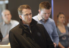 Jets co-owner Mark Chipman at the news conference announcing Project 11.