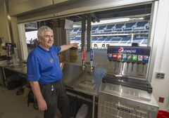 General manager Gerry Ellis's Ovations outlet is ready to pour for fans tonight.