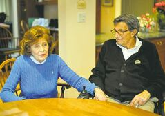 Sue PaternoSue Paterno (with late husband Joe Paterno) watched from a private suite.