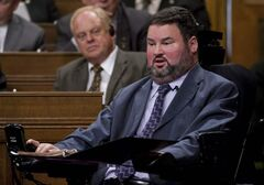 Steven Fletcher responds to a question during Question Period in the House of Commons in Ottawa, on October 20, 2011.