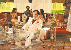 Gael Garcia Bernal, shown in a scene from Casa di mi Padre, is expected to be filming in the city.