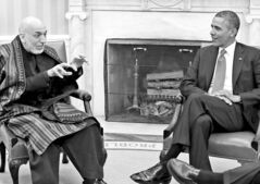 President Obama meets Afghan President Karzai in the White House to discuss America�s withdrawal.