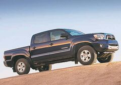 The compact pickup market is dominated by the Toyota Tacoma.