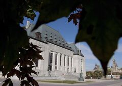 The Supreme Court of Canada is seen in Ottawa on October 2, 2012. THE CANADIAN PRESS/Adrian Wyld