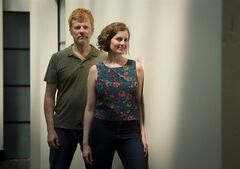 New Pornographers band members A.C. Newman, left, and Kathryn Calder pose in Toronto on Thursday, August 7, 2014. Everything about the New Pornographers' new album,