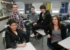 From left: Andrea Martinez, Matthew Landry, Aidan Ramsay, Jordan Mackay and Jennifer Bales are Grade 12 students at Windsor Park Collegiate who will be voting in the provincial election Oct. 4, 2011.