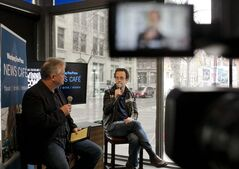 Kevin McDonald, of Kids in the Hall and Brain Candy fame, speaks to Free Press entertainment writer Brad Oswald at the Winnipeg Free Press News Cafe in April.