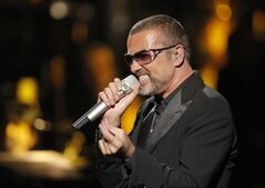 FILE - In this Sept. 9, 2012 file photo, British singer George Michael in concert to raise money for AIDS charity Sidaction, in Paris, France. George Michael's spokeswoman says the singer is