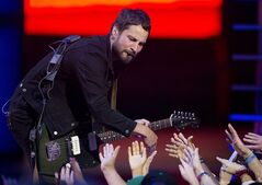 Sam Roberts Bands performs during the 2014 Much Music Video Awards in Toronto on Sunday, June 15, 2014. THE CANADIAN PRESS/Chris Young