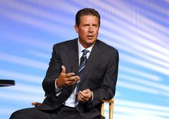 FILE - In this Sept. 21, 2012 file photo, former Miami Dolphins quarterback Dan Marino appears at the AARP convention in New Orleans. Longtime analysts Dan Marino and Shannon Sharpe will not return to CBS'