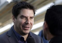 FILE - In this Feb. 5, 2014 file photo, Bolivian billionaire Marcelo Claure, founder of Brightstar Corp., is interviewed following a news conference in Miami. Sprint on Wednesday, Aug. 6, 2014 said it is replacing its longtime CEO Dan Hesse with Claure on the heels of a report that it is dropping its bid for rival wireless carrier T-Mobile. Sprint says the 43-year-old Claure will replace Hesse on Monday, Aug. 11, 2014. (AP Photo/Lynne Sladky, File)