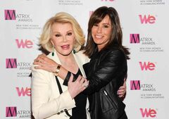 TV personalities Joan Rivers, left, and daughter Melissa Rivers at the 2013 Matrix New York Women in Communications Awards.