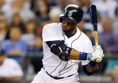 Seattle Mariners' Robinson Cano waits for a pitch during his at-bat in the sixth inning of a baseball game against the New York Mets, Tuesday, July 22, 2014 in Seattle. Cano lined out on the play. (AP Photo)