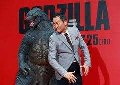 Japanese actor Ken Watanabe poses for photographers during the Japan premiere of his movie