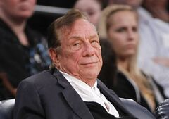 FILE - In this Dec. 19, 2011 file photo, Los Angeles Clippers owner Donald Sterling watches the Clippers play the Los Angeles Lakers during an NBA preseason basketball game in Los Angeles. Los Angeles Clippers owner Donald Sterling responded to the NBA's attempt to oust him on Tuesday, May 27, 2014, arguing that there is no basis for stripping him of his team because his racist statements were illegally recorded