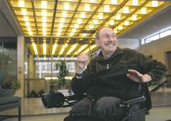 WAYNE GLOWACKI / WINNIPEG FREE PRESS archives Activist Nick Ternette in January 2010 at city hall after his last speech to city council before his 'retirement.'