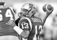 Alouettes quarterback Anthony Calvillo will sit out tonight with a concussion.