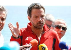 Former trader Jerome Kerviel speaks in Menton, France, on May 17, 2014. THE CANADIAN PRESS/AP, Claude Paris