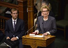 Kathleen Wynne is sworn in as the 25th premier of Ontario at Queen's Park in Toronto on Tuesday, June 24, 2014. THE CANADIAN PRESS/Nathan Denette