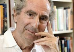 FILE - In this Sept. 8, 2008 file photo, author Philip Roth poses for a photo in the offices of his publisher Houghton Mifflin, in New York. In what may be his last remarks at a public gathering, Philip Roth has accepted Yaddo's first ever Artist Medal Wednesday May 14, 2014 and spoken gratefully of his time at the venerable retreat in the 1960s. (AP Photo/Richard Drew, file)