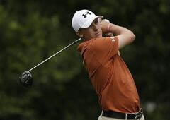 FILE - In this March 17, 2013 file photo, Jordan Spieth tees off on the ninth hole during the final round of the Tampa Bay Championship golf tournament in Palm Harbor, Fla. Spieth holed a tough shot for birdie that all but assured him joining the PGA Tour as a temporary member at 19. (AP Photo/Chris O'Meara, File)