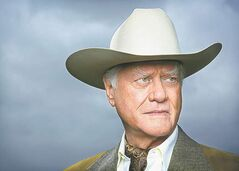 The late Larry Hagman as infamous TV villain J.R. Ewing.