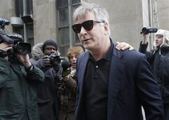 "FILE - In this Tuesday, Nov. 12, 2013 file photo, actor Alec Baldwin leaves criminal court in New York. Police in New York City say actor Alec Baldwin has been arrested for riding a bike the wrong way on the street and acting belligerently toward the arresting officers. Police say the ""30 Rock"" star was taken into custody Tuesday, May 13, 2014. They say two officers noticed him riding his bicycle the wrong way on 16th Street near Fifth Avenue near Union Square Park. They say the notoriously hot-headed actor was asked to show identification. That's when they say he acted belligerently toward the officers and was arrested. He's since been released. (AP Photo/Seth Wenig, File)"