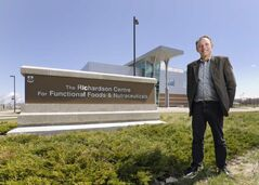 Director Peter Jones in 2011 in front of Richardson Centre for Functional Foods.