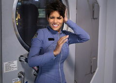 This image released by CBS shows Halle Berry in a scene from the series